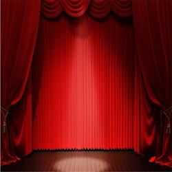 定做剧院舞台幕布 剧院电动舞台幕布图片