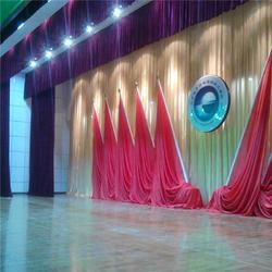 定制会议背景舞台幕布 定做会议舞台幕布厂家图片