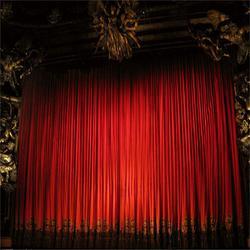 定做会议舞台幕布 会议室舞台幕布厂家 会议背景红旗图片