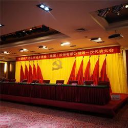 深圳定做金丝绒舞台幕布 制作金丝绒对开舞台幕布图片
