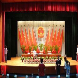 信阳订做影院舞台幕布影院电动舞台幕布的厂家真丝绒图片