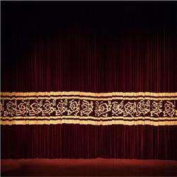 临汾运城报告厅舞台幕布 订做电动报告厅舞台幕布荷兰绒图片