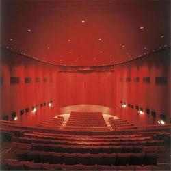 重慶訂做影院舞臺幕布 影院電動舞臺幕布的廠家真絲絨圖片