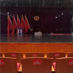 河曲保德电动舞台幕布厂家 定做意大利绒阻燃舞台幕布图片