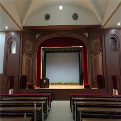 湖州嘉兴定做会议室舞台幕布 会议室舞台幕布生产厂家布置会场图片