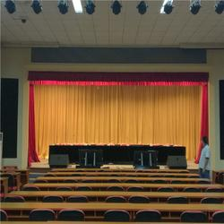 沽源赤城崇礼定做背景电动舞台幕布 会议背景舞台幕布的工厂图片