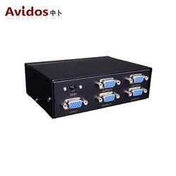 AVIDOS 模拟VGA分配器4口1进4出一分四分屏器音视频分离器350MHZ图片