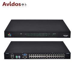 数字矩阵4IP KVM切换器32口4用户控制32台主机CAT5网口RJ45交换机 AD-4032图片