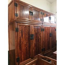 紫檀家具-聚寶門收藏古董古玩-紫檀辦公桌圖片