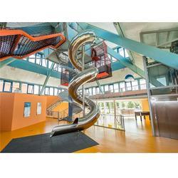 郑州不锈钢滑梯 乐龙游艺设备 非标不锈钢滑梯价图片