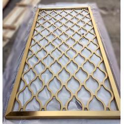 钛金不锈钢屏风-上海不锈钢屏风-不锈钢隔断图片