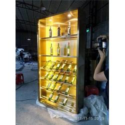 不锈钢酒柜 不锈钢恒温酒柜酒架-不锈钢恒温酒柜图片