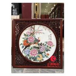大型陶瓷瓷片背景墙定制图片