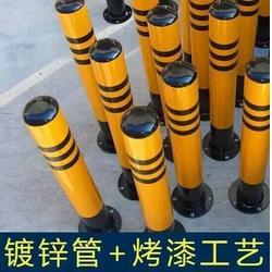 警示柱厂家 道路防撞柱 反光立柱 路桩 交通隔离柱 镀锌管反光柱图片