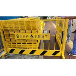 施工铁马围栏 可移动围栏 道路交通黑黄铁马护栏 坑基护栏 反光防撞栏图片