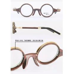女款18K金眼镜私人定制-玉山商务钛架眼镜工艺图片