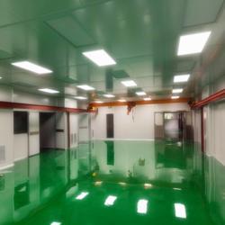 无尘车间环氧树脂防静电地面施工图片