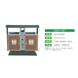 郑州垃圾桶_钢木单桶_豪峰环卫(推荐商家)图片