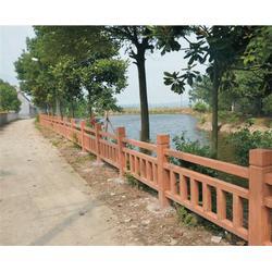 绿化仿木护栏厂家、丰泉建材厂、仿木护栏图片