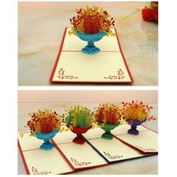 山西创意3D贺卡-立体剪纸贺卡-喜道图片