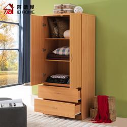 阿德屋衣柜 简约现代 经济型大容量环保卧室收纳柜推拉门家具组装图片