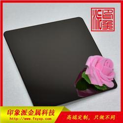 彩色不锈钢304镜面黑钛装饰板 彩色不锈钢板图片