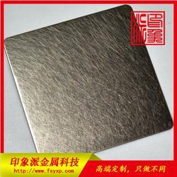 直銷不銹鋼304亂紋香檳金裝飾板 不銹鋼板廠家圖片