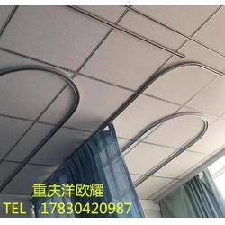 厂家定制医用隔帘轨道铝合金U型轨道L型隔帘轨图片