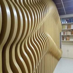 定制外墙铝格栅 造型铝板装饰 造型铝幕墙图片