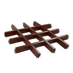 热销木纹铝格栅吊顶 200x200铝格栅天花图片
