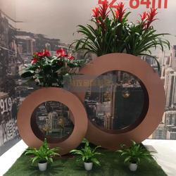 特攻304不锈钢花盆定做 高端户外超大型不锈钢烤漆类花箱花瓶图片