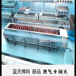 商用无烟燃气烧烤炉中间火不锈钢管煤气液化气烤串炉子烤猪蹄图片