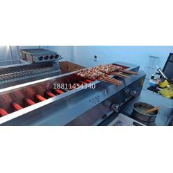 黑金刚液化气烤炉蓝天博科中间管子燃气烤炉烤羊肉串图片