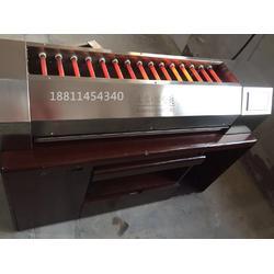 六丁神火商用电烧烤炉触摸屏黑金刚电烤炉瑞铃达烧烤架电烤箱图片