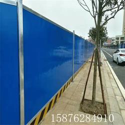 实力工厂自产彩钢平面扣板围挡 房地产新式围蔽隔离挡板图片