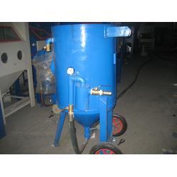 排水管气控移动喷砂机 铁件钢筋除锈喷砂机图片