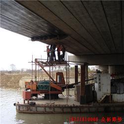 桥梁加固碳纤维粘混凝土表面施工图片