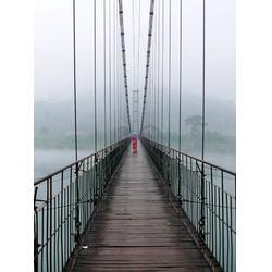 吊桥安装厂家-钢丝铁索桥制造厂家图片