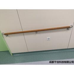 养老院医院走廊墙面防撞扶手实木圆形木纹色扶手厂家图片