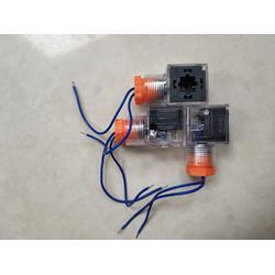 现货液压电磁阀插头带指示灯AC220V 电磁铁接线本整形带电路板图片
