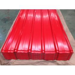 武钢亮红色750彩钢板 现货报价批发
