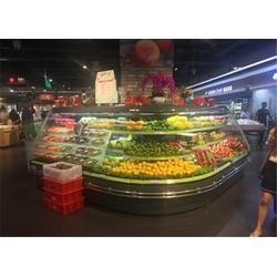 比斯特厂家直供定制 冷藏果蔬风幕柜定制-广东果蔬风幕柜图片