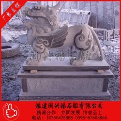 石雕貔貅青石貔貅一对镇宅看门摆件风水石雕图片
