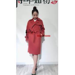 热门羊绒双面大衣欧帝雅文女装品牌折扣图片
