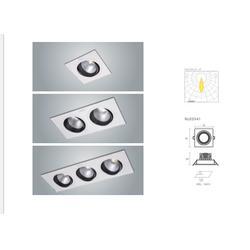 雷士照明12w单头格栅灯led双头斗胆灯三头led格栅射灯办公室格栅照明灯图片