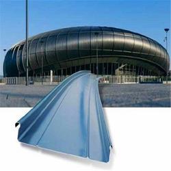直销可现场加工65-500型厚度0.8mm直立锁边钛锌屋面板适用于体育馆图片