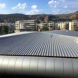 直销可现场加工65-400型厚度0.7mm直立锁边钛锌屋面板适用于体育馆图片