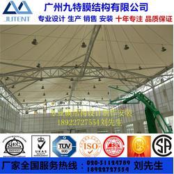 户外篮球排球羽毛球场PVDF张拉膜结构遮阳雨棚订制体育设施遮阳钢膜结构工程图片