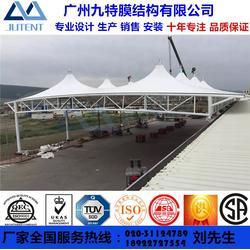 加油站膜结构工程收费站膜结构雨棚订制PTFE张拉膜建筑钢结构PVDF景观遮阳棚图片
