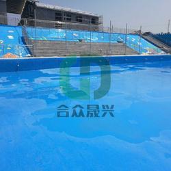 户外游泳池 老旧游泳池改造 泳池防水贴膜 铺装图片